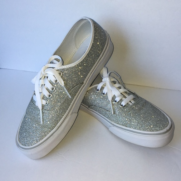 official photos 8e063 4c581 Vans Authentic Silver Glitter Skate Shoe. M 5af0f7f62c705d7229849d3b